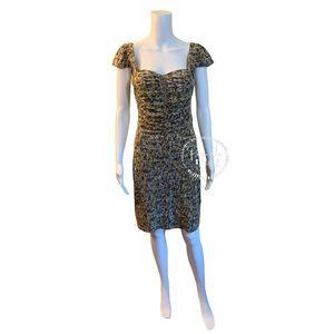 Marc Jacobs Georgie Tweed Print Jersey Dress Multi
